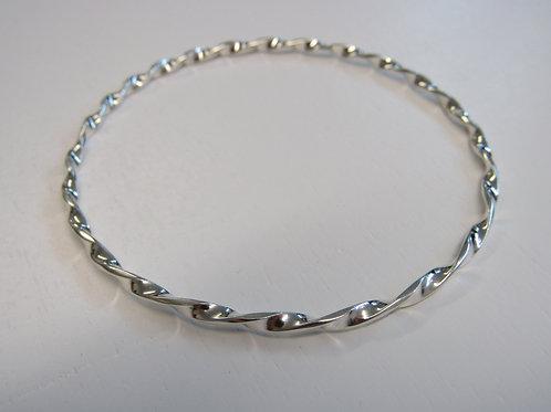 Sterling silver twisty bangle