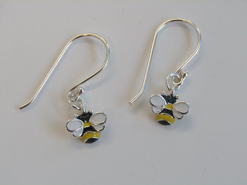 Sterling silver and enamel bee drops