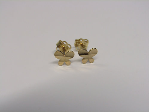 9ct gold buttlerfly studs