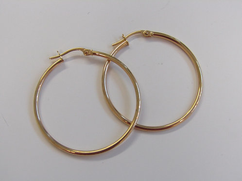 9ct gold creole hoops