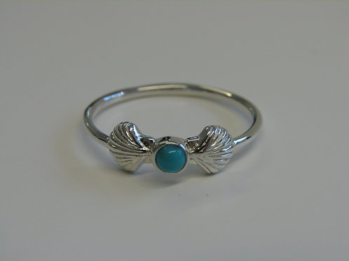 Sterling silver turquoise shell ring
