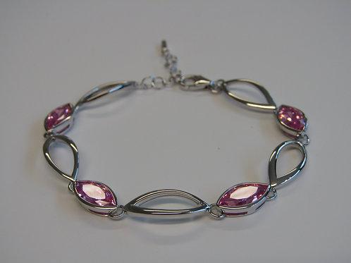 Fiorelli sterling silver pink navette bracelet