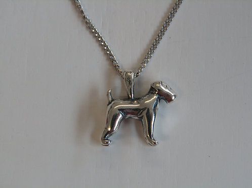 Sterling silver miniature Airedale Terrier