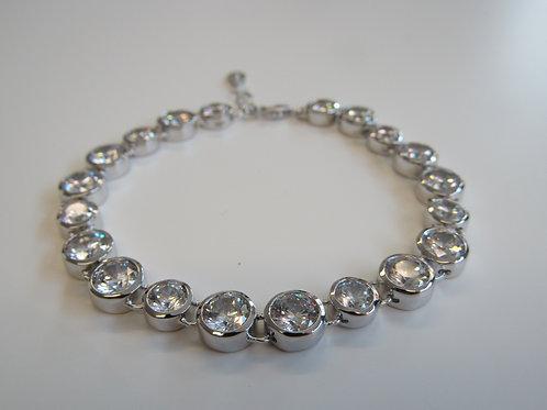 Fiorelli sterling silver clear cubic zirconia tennis bracelet