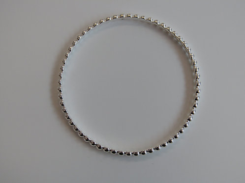 Sterling silver round ball bangle