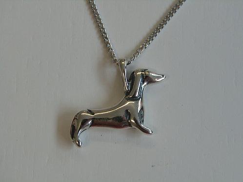 Sterling silver sausage dog (Dachshund)