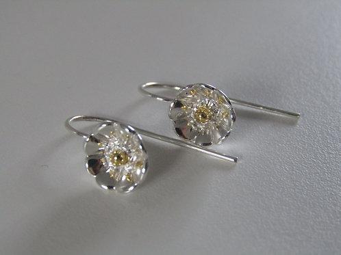Sterling silver flower drops