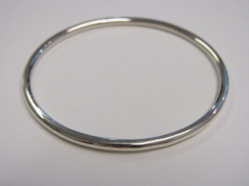 Sterling silver solid  round bangle