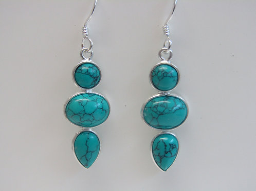 Sterling silver turquoise drops