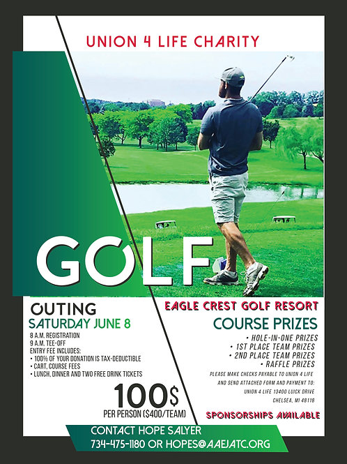 2019 Golf Outing Individual Entry