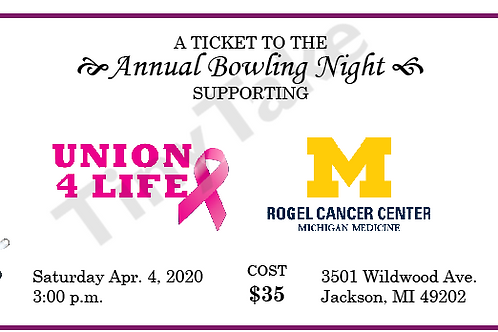 2020 Bowling Night Ticket
