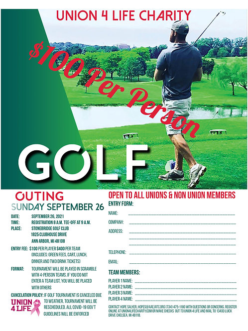 2021 Golf Outing Individual Entry