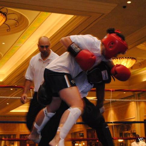 Female student in semi- finals fight 201
