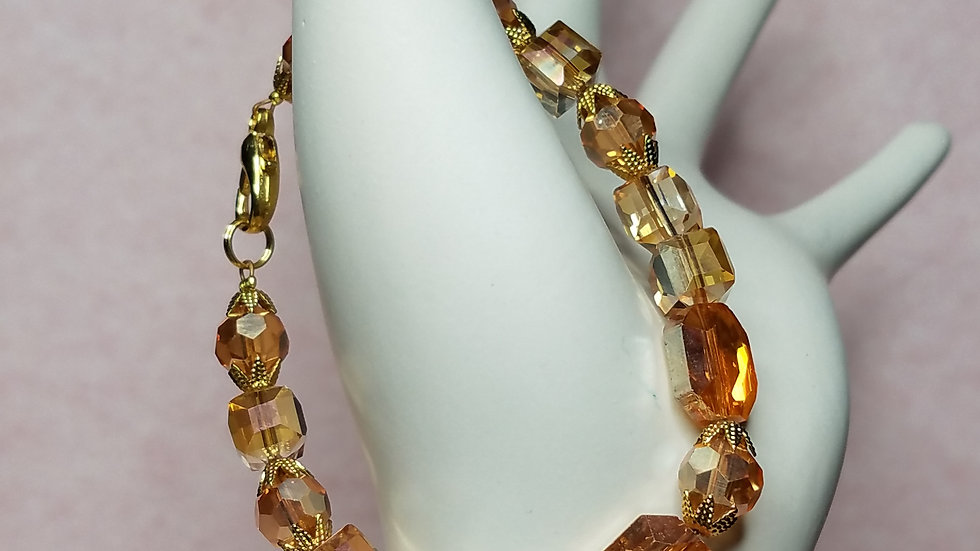 Amber Multifaceted Bracelet
