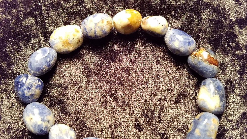 Natural Stone Bracelet - Shades of Blue