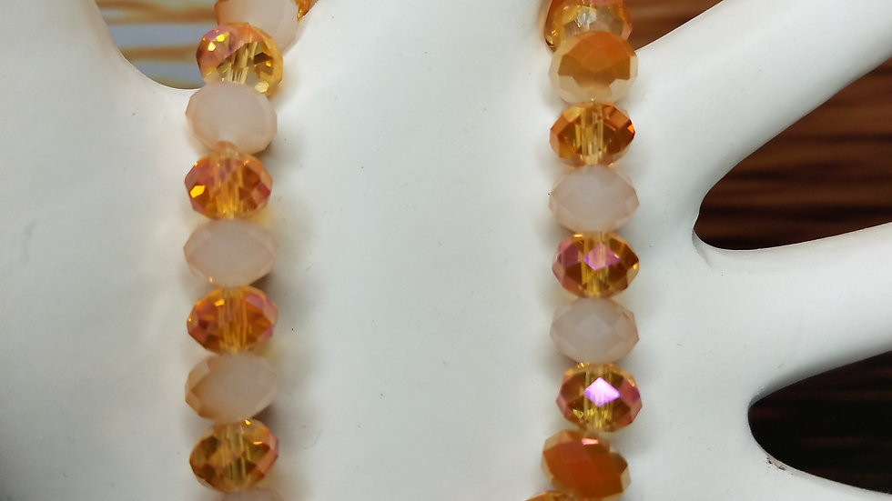 Topaz Multifaceted Beaded Bracelet on Stretchy Cord