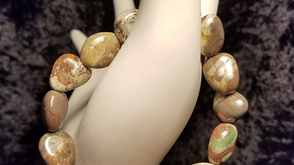 Natural Stone Bracelet - Shades of Brown