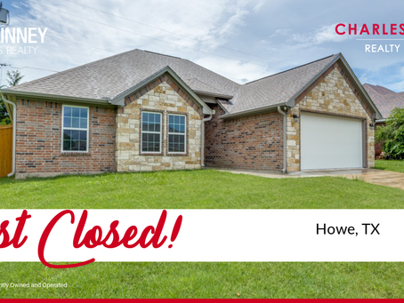 Listed and closed fast in Howe, TX