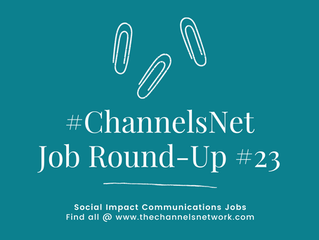 #ChannelsNet Jobs Round-Up #23