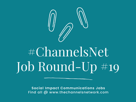 #ChannelsNet Jobs Round-Up 19
