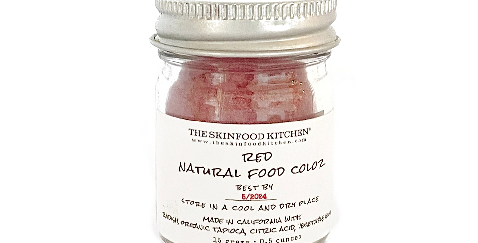 red natural food color