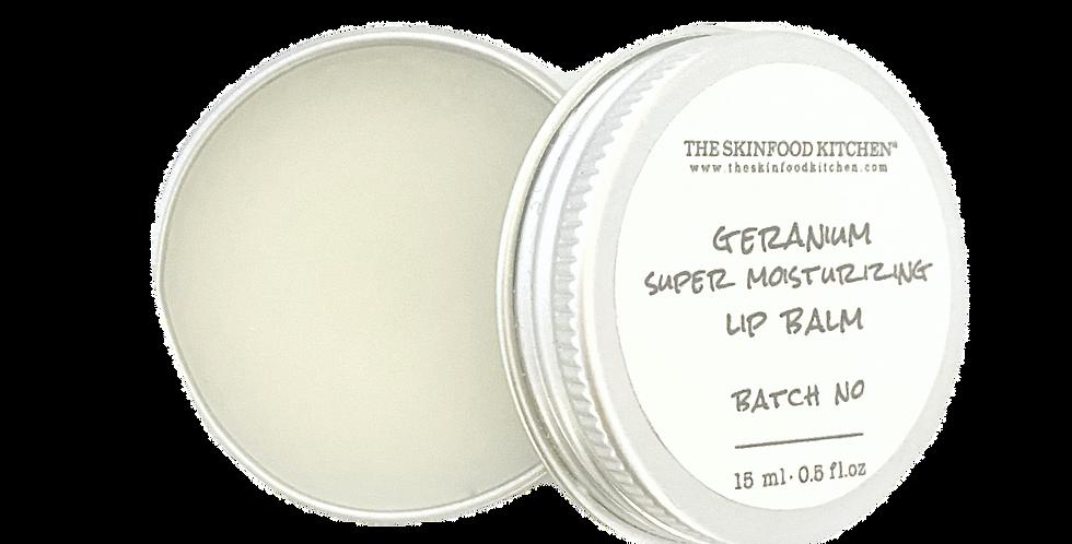 super moisturizing geranium lip balm