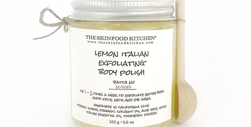 lemon italian exfoliating body polish