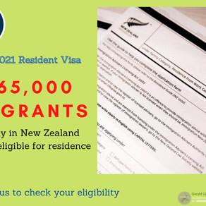 One-Off 2021 Resident Visa
