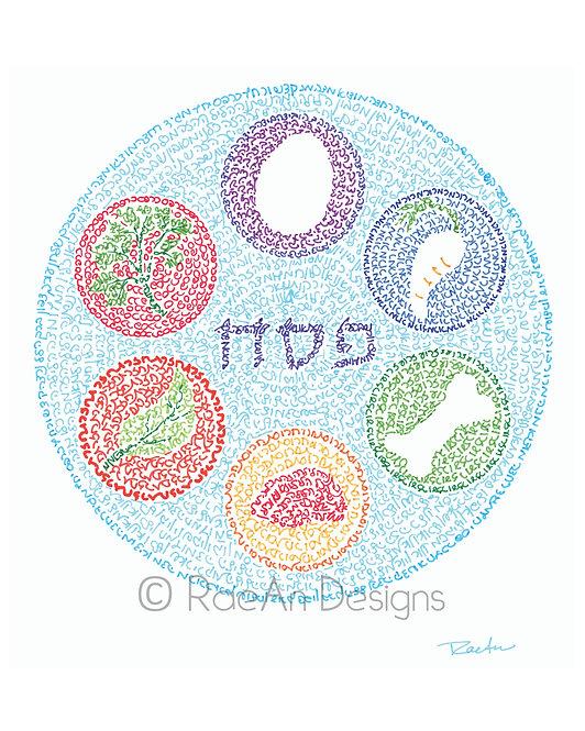 Seder Plate I: Micrography Print