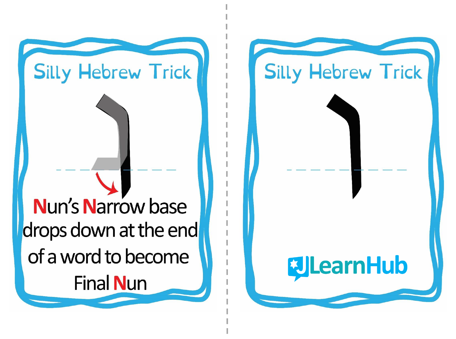 Silly Hebrew Tricks Flashcards