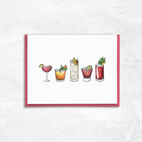 Vintage Cocktail Greeting Card
