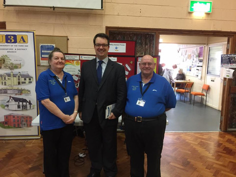 Jane and Martin with Mike Woods MP