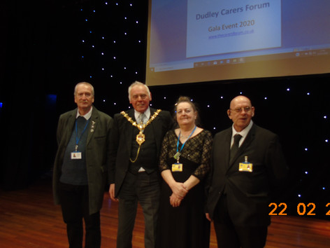 Officers of the Forum with The Mayor of Dudley