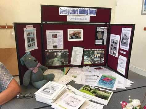 Dudley Carers Writers Group display