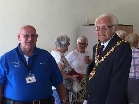 Martin with The Mayor  Councillor Alan Taylor