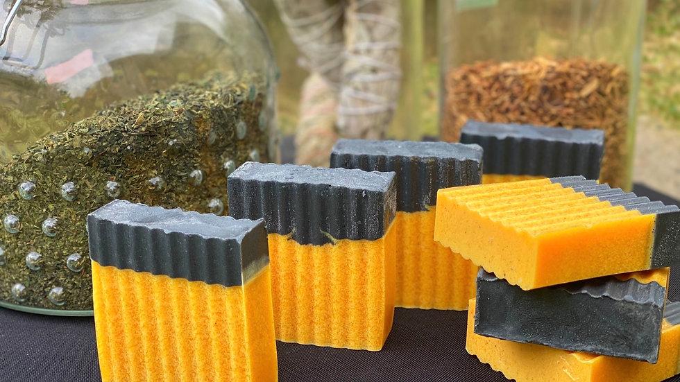Charcoal/Tumeric Seamoss Soap