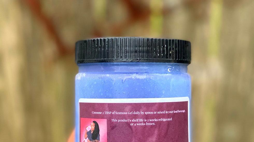 Blue spirulina Seamoss gel