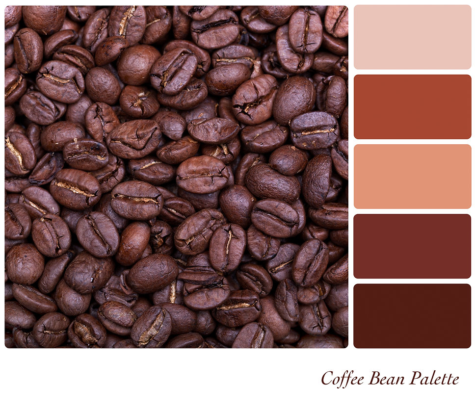 Coffee bean background colour palette wi