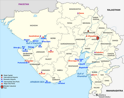 Airports and Seaports in Gujarat