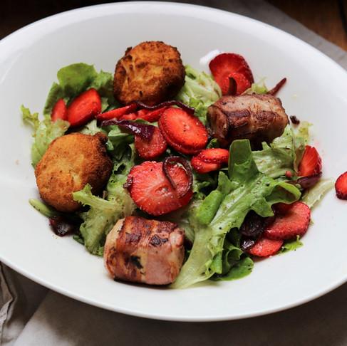 Salade de chèvre chaud & fraises