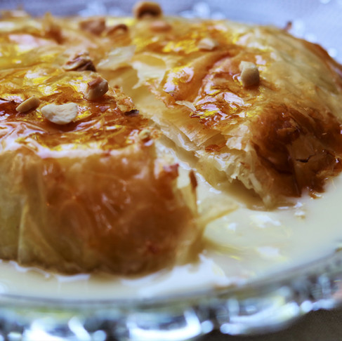 Camembert croustillant au miel