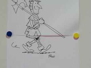 Een tekenaar in de klas