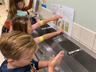 Stap voor stap onze handen wassen!