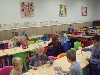 GOK-activiteit: samenwerking 3de kleuterklas en 4 de leerjaar