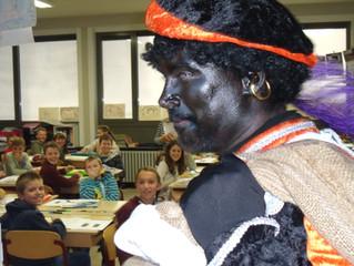 De Sint op bezoek in onze school