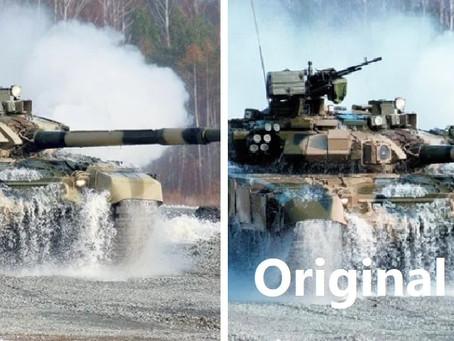 ทีมการตลาดของ Rosoboronexport ปลอมรูปรถถังหลัก T-90S