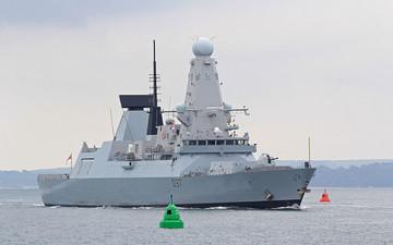 เรือพิฆาต HMS Duncan ได้มาถึงช่องแคบฮอร์มุซแล้ว
