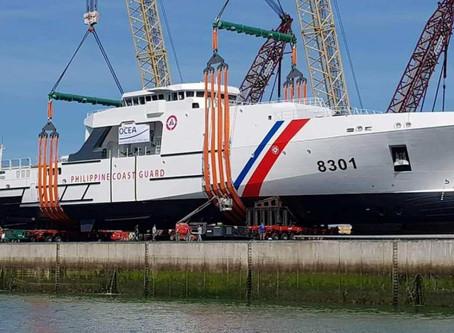 กองเรือยามฝั่งฟิลิปปินส์ปล่อยเรือตรวจการณ์ลำใหญ่ที่สุดลงน้ำแล้ว