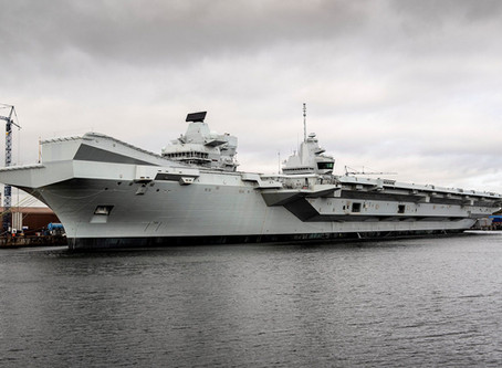 HMS Prince of Wales ออกทดสอบทางทะเลเป็นครั้งแรก