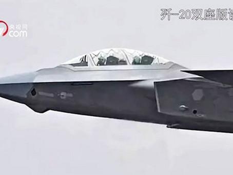 J-20 อาจเป็นเครื่องบินขับไล่ยุคที่ 5 รุ่นแรกที่มี 2 ที่นั่ง